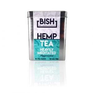 Heavily-Meditated-Peppermint-Tea-(100MG---10-Bags)--BISH-Tea---CBD-Well-Products